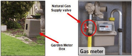 Where do I find the gas isolation valve